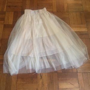 Dresses & Skirts - Beige tulle skirt